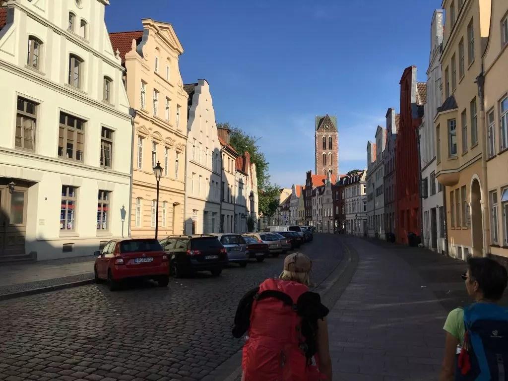 In der Innenstadt von Wismar