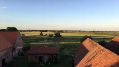 Mein abendlicher Ausblick auf die Havelaue in Kuhlhausen