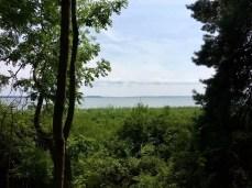 Wanderung auf Usedom - Blick auf das Achterwasser bei Lütow