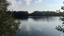 Blick auf den Hummelsee in Hamburg