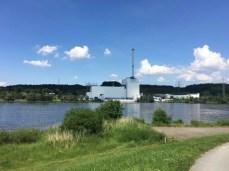 Das Atomkraftwerk Krümmel am Elbufer südlich von Geesthacht