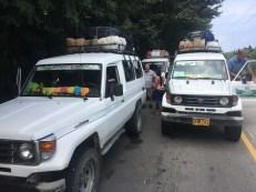 Mit Jeeps geht´s bis nach Machete, dem Ausgangspunkt des Trekkings