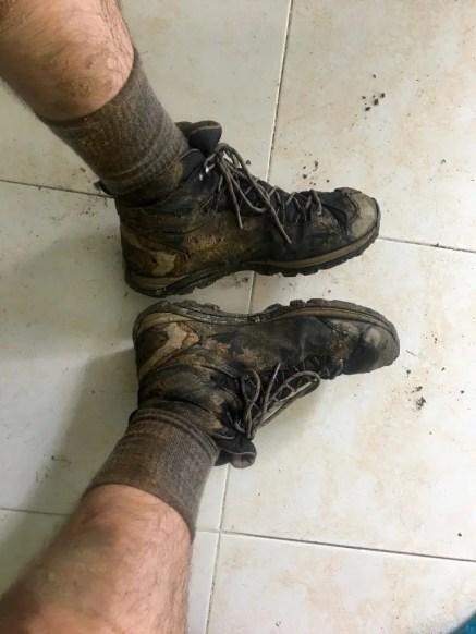 Nach dem Rückweg: Wegschmeißen oder Behalten? Meine Wanderschuhe nach der 4-Tages Wanderung zur Verlorenen Stadt