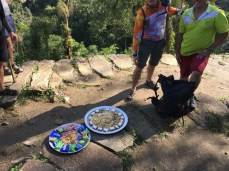 Picknick in der Ciudad Perdida früh am morgen
