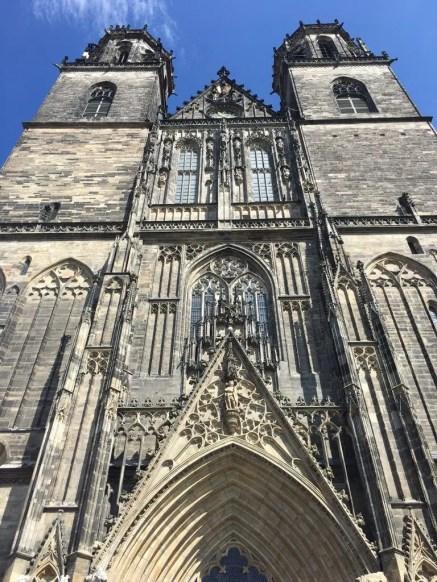 Die Giebelseite des Magdeburger Doms