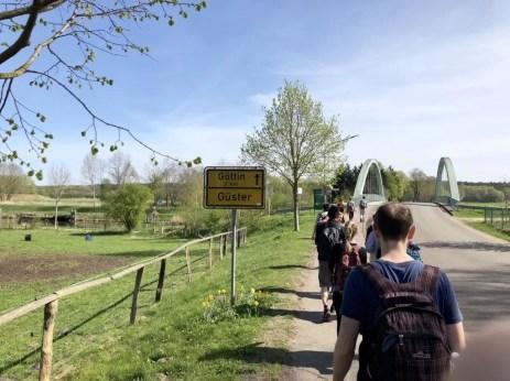 Start der Tour in Güster nahe der Autobahn A24