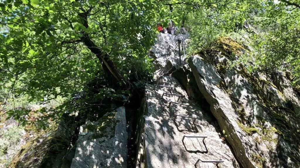 Die letzte große Klettersteig-Passage auf dem Mittelrhein-Klettersteig