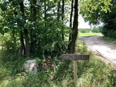 Abzweig nach Wangelkow bei Lentschow in Vorpommern