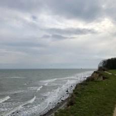 Auf der Steilküste südlich von Grömitz an der Ostsee