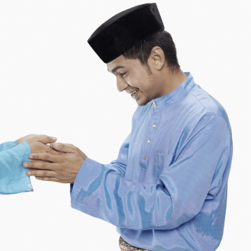 Malay man greeting
