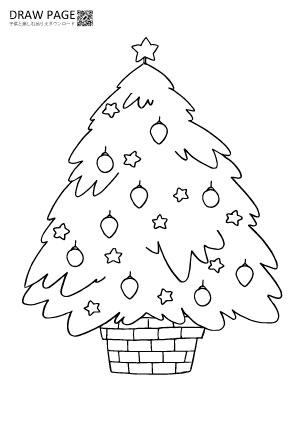クリスマスツリーの塗り絵 無料 子供大人高齢者まで三世代で楽しめる