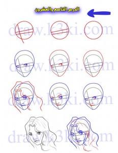تعلم رسم الوجه