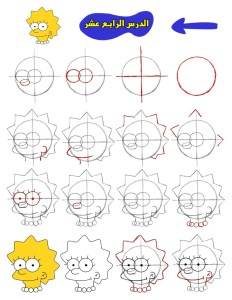 كيفية رسم سيمبسون