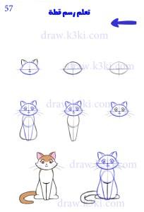 كيف ترسم قطة