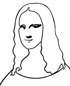 رسم لوحه الموناليزا خطوه بخطوه