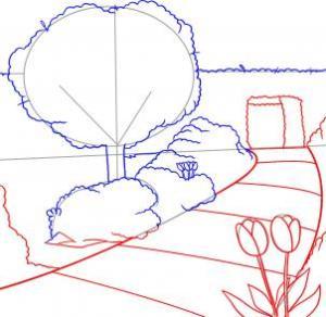 تعلم رسم الحديقة