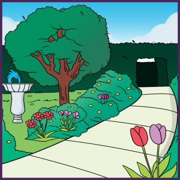 كيف ترسم حديقة ببساطة