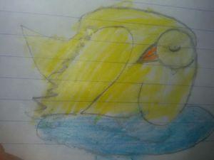رسم بطة بالألوان