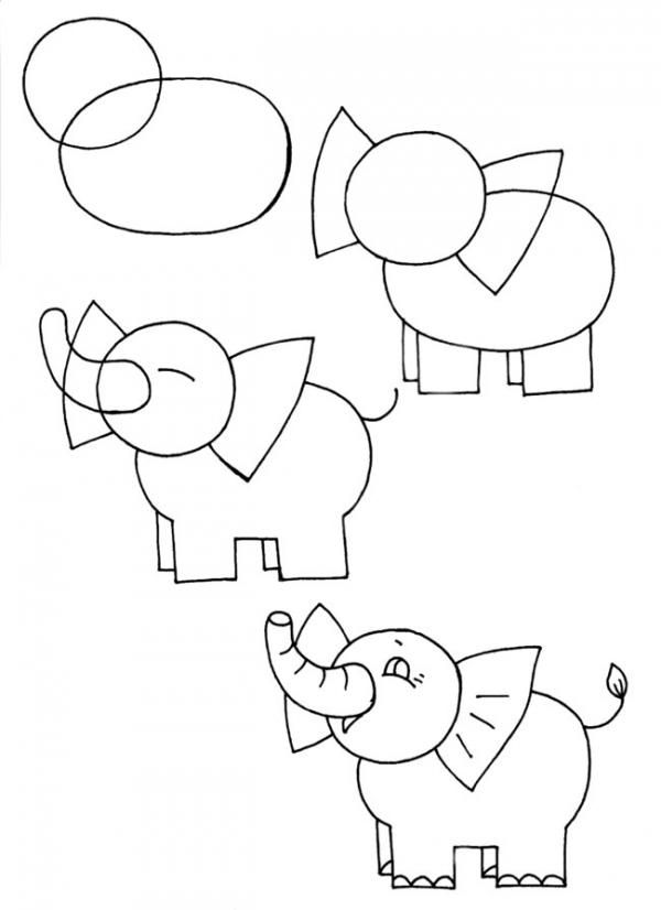 تعلم رسم فيل