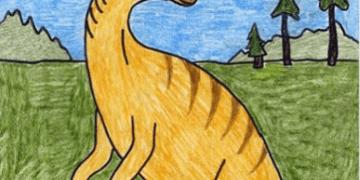 ارسم ديناصور خطوة بخطوة