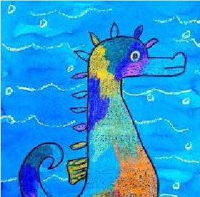 تعلم رسم فرس البحر