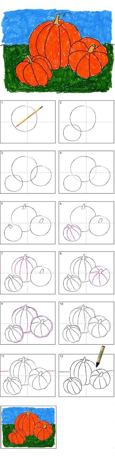 تعلم رسم يقطينة بالصور