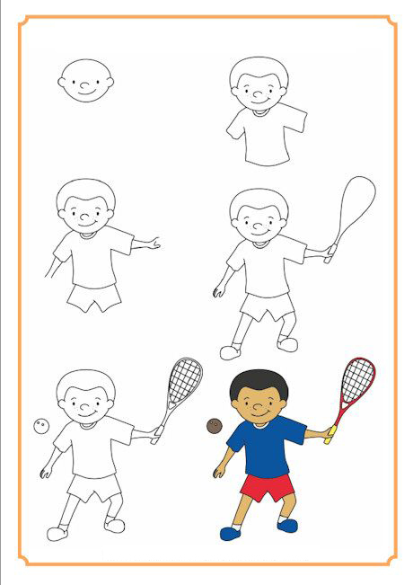 تعلم رسم لاعب تنس