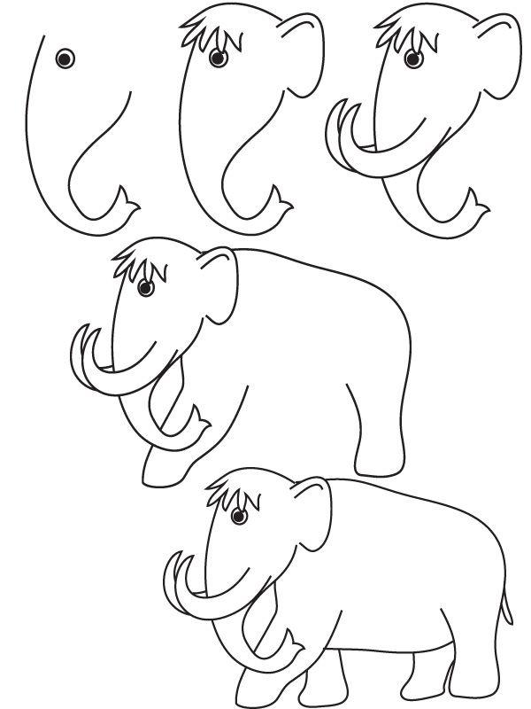 تعلم رسم ماموث