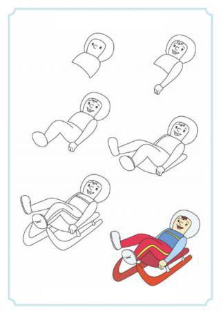 كيفية رسم متزلج