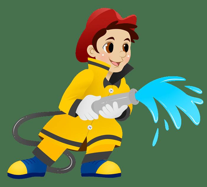 كيفية رسم رجل إطفاء