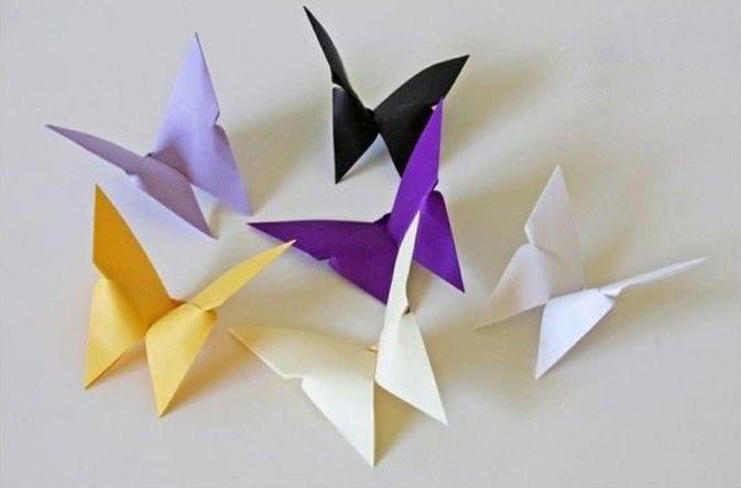 كيفية صنع فراشة من الورق