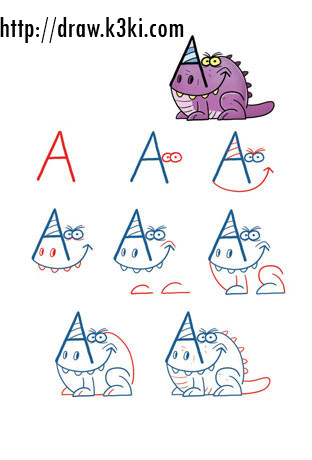 تعلم رسم أرغ من حرف A