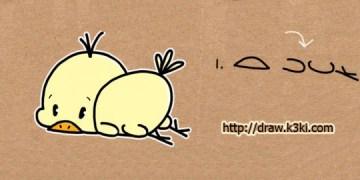 كيفية رسم بطة من كلمة Duck