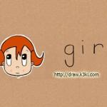 كيفية رسم وجه فتاة من كلمة girl