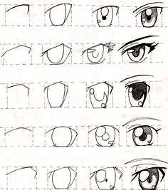 رسم عين المانغا - رسم الانمي
