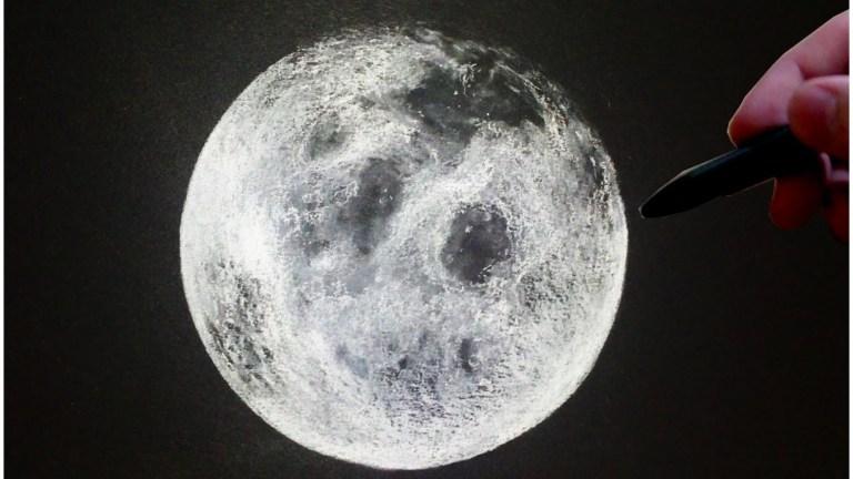 تعلم رسم القمر