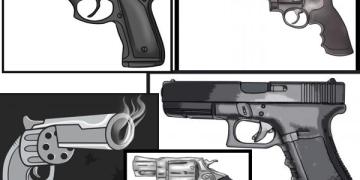 تعلم رسم خمسة أنواع من المسدسات