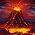 تعلم رسم بركان