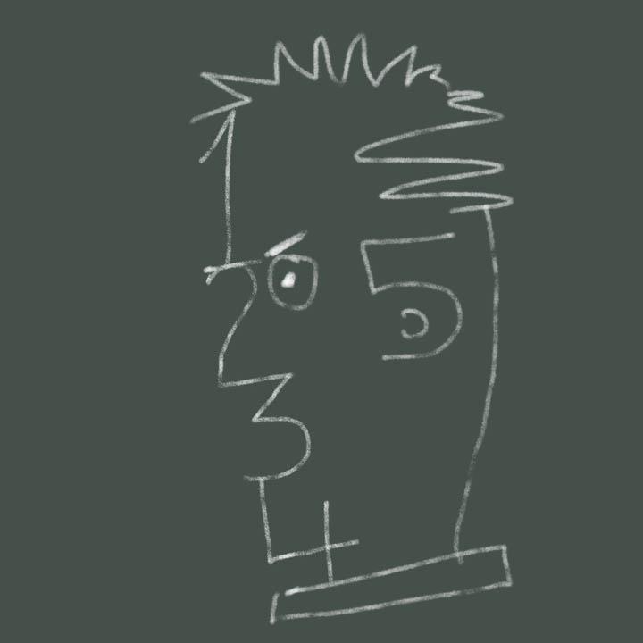 رسم الوجه من خلال الأرقام