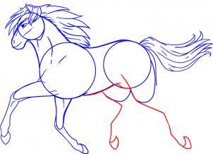 رسم حصان يقوم بالركض