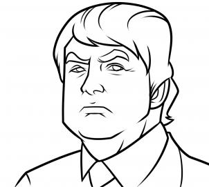 بالخطوات رسم رئيس اميريكا دونالد ترامب