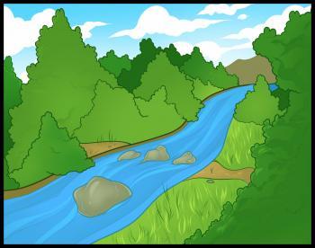 رسم نهر