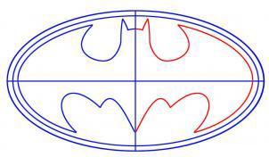 رسم شعار باتمان بالخطوات