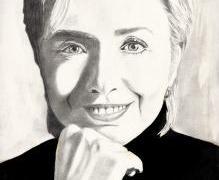 تعلم رسم هيلاري كلينتون خطوة بخطوة