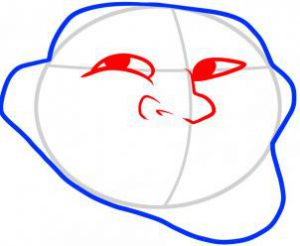 تعلم رسم الوجه-وجه ترول الضاحك
