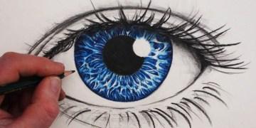 رسمة عين - تعلم رسم العين