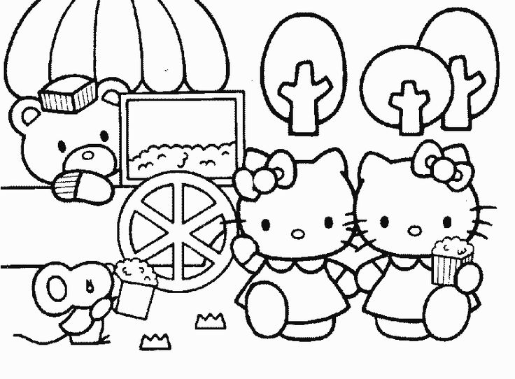 sanrio coloring pages -