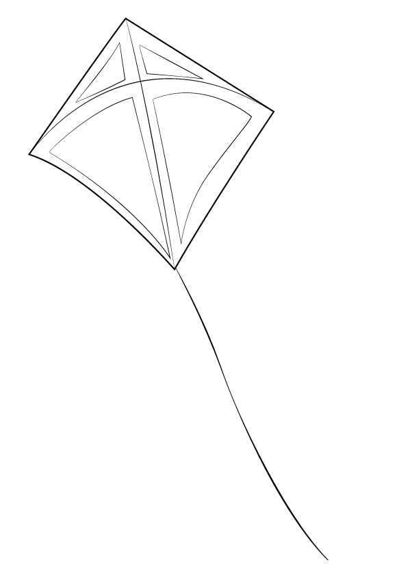 رسم طائرة ورقية