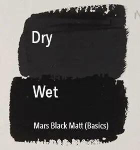 Matte acrylics dry lighter.