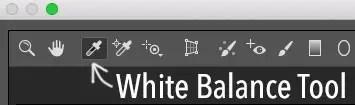 white balance tool in Photoshop